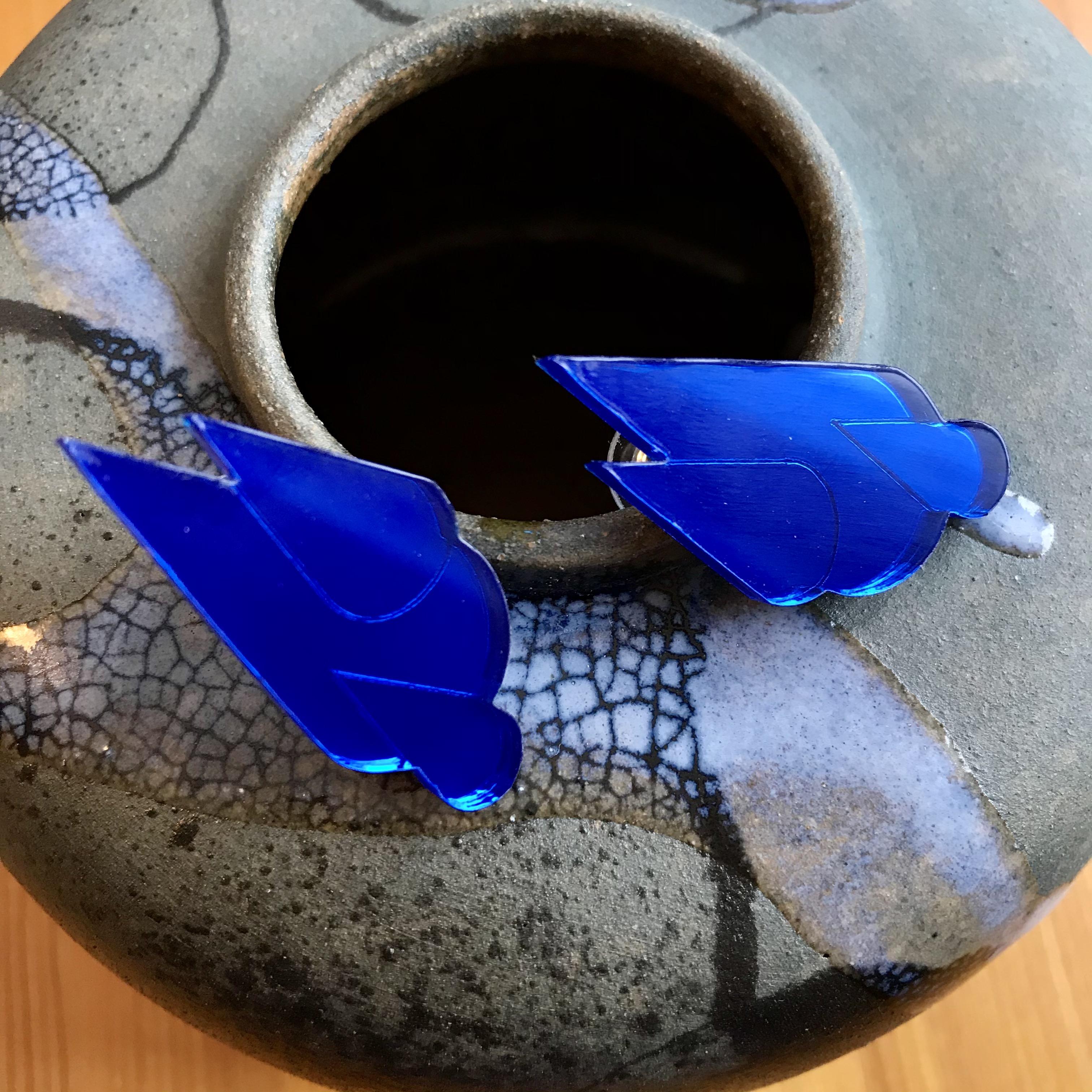 Jatuli: Let it rain -korvakorut, sininen peili