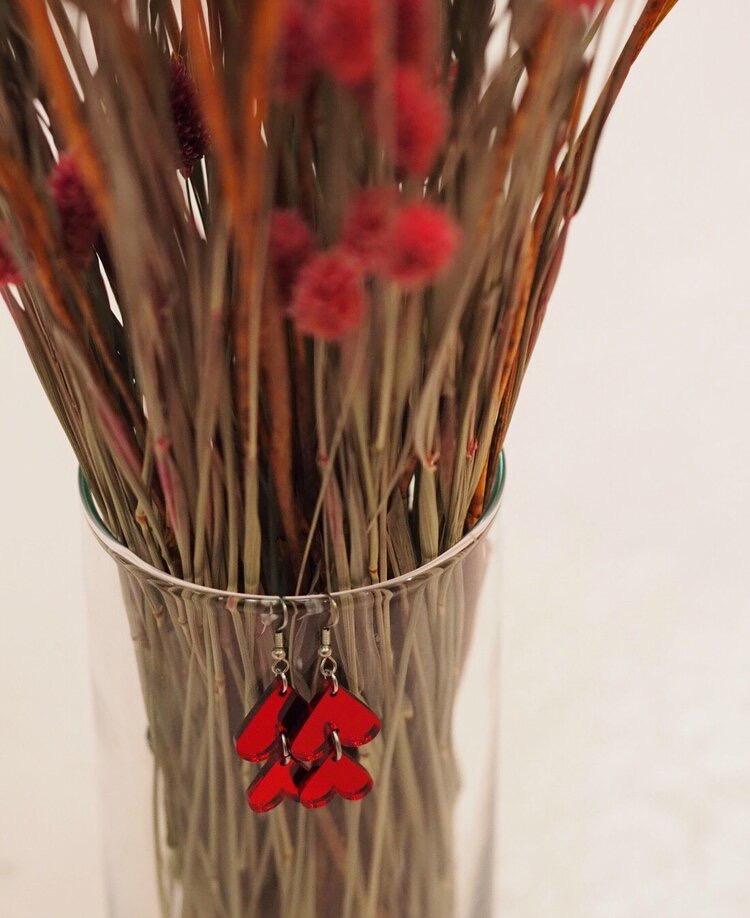 Jatuli: Cherie-korvakorut, punaiset