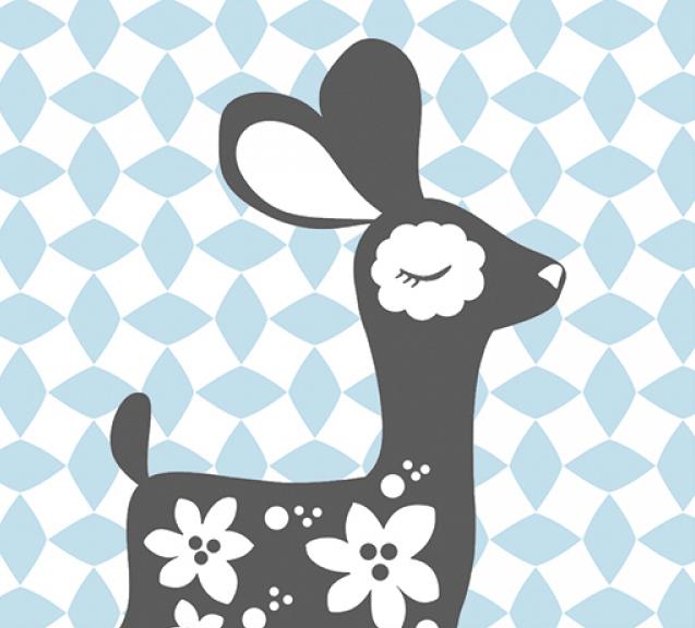 PaaPii Design: Bambi salmiakkikuviolla -postikortti