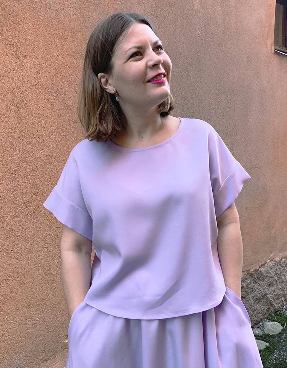 Vuurran: liila Vellamo-paita