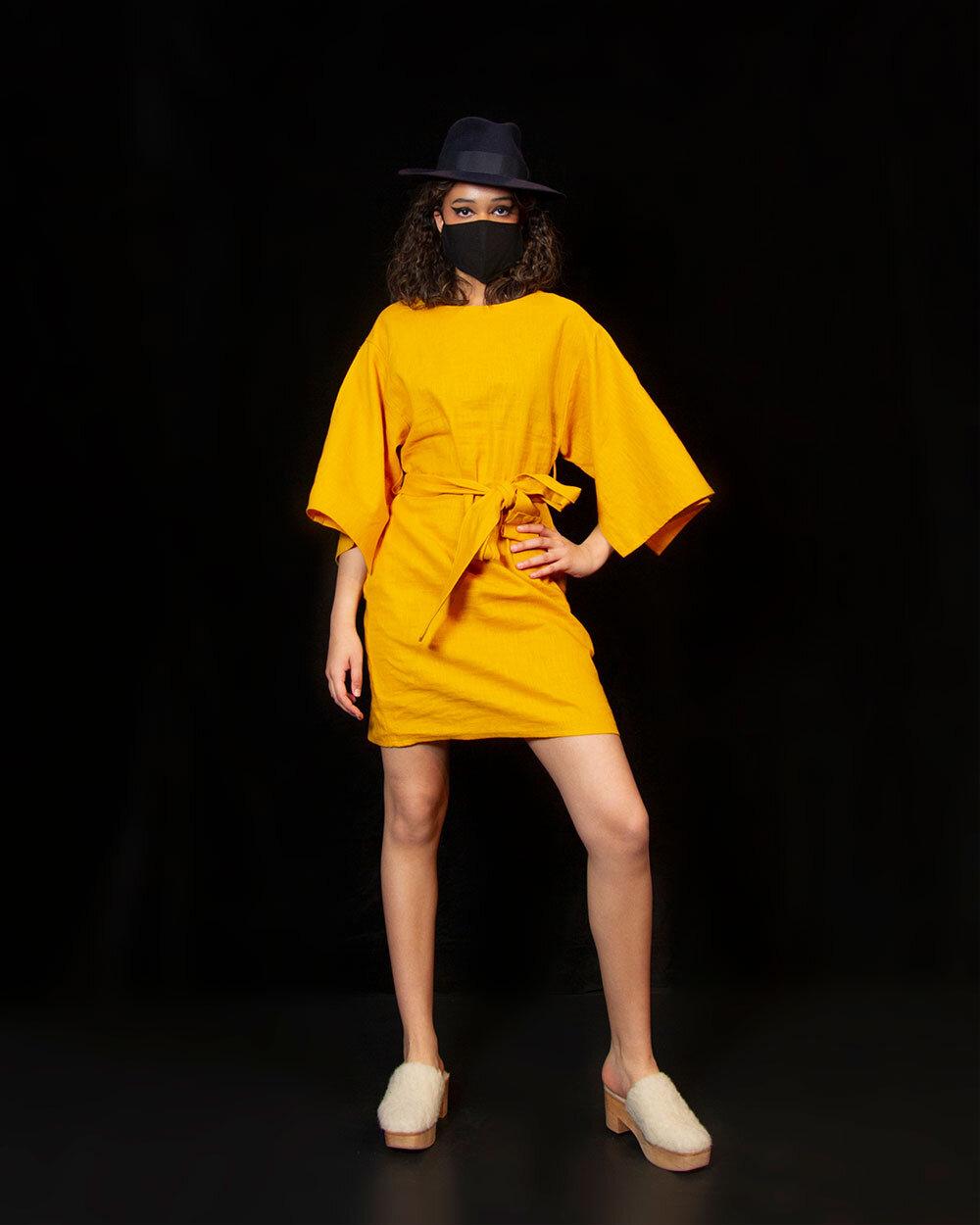 KATIVEE: Kimono Dress, keltainen