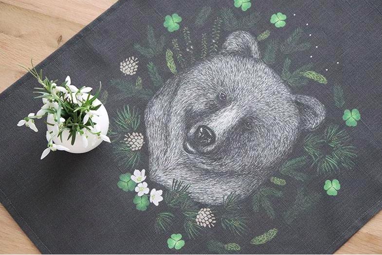 Design Palet: Otavan Otso -luomupellavapyyhe