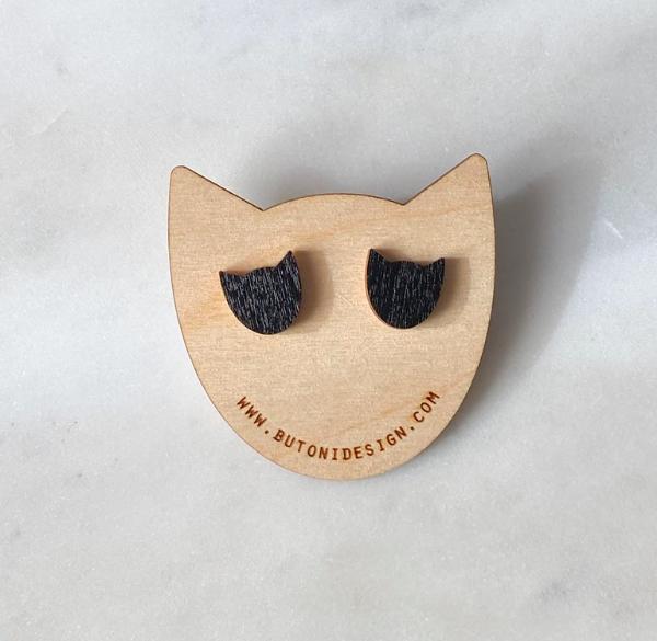 ButoniDesign: mustat Kissa-korvakorut