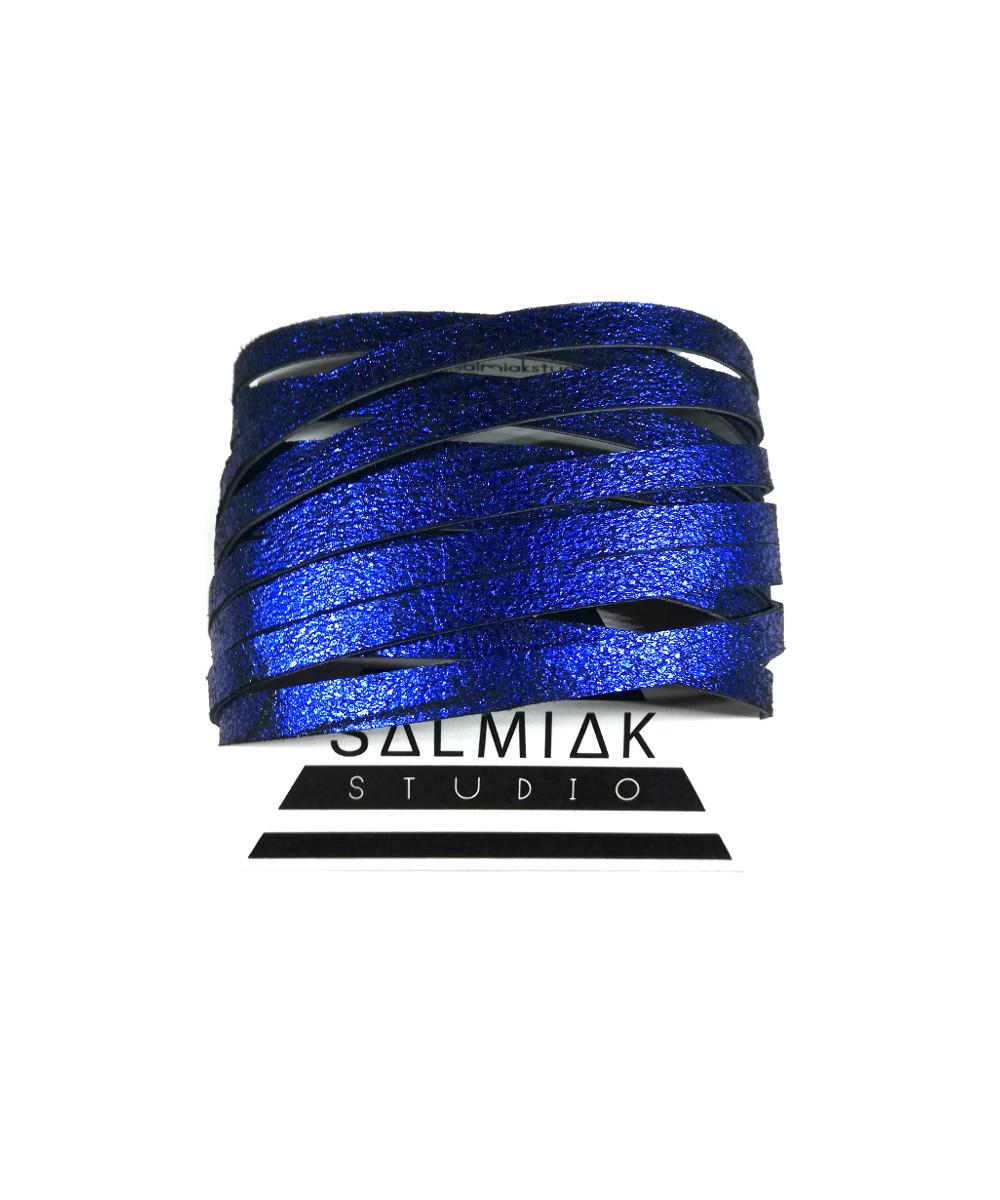 Salmiak Studio: sininen Nida-rannekoru poronnahasta
