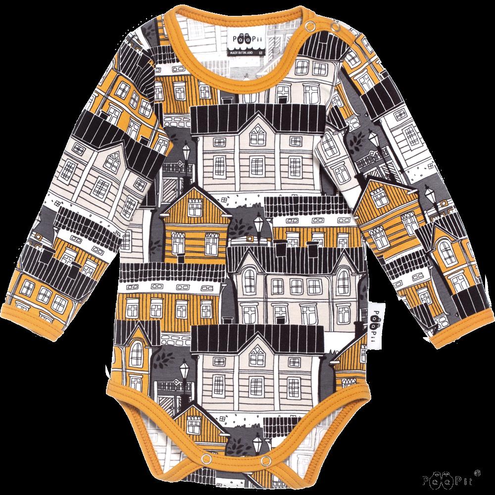 PaaPii Design: body Vanhakaupunki-kuosilla, okra