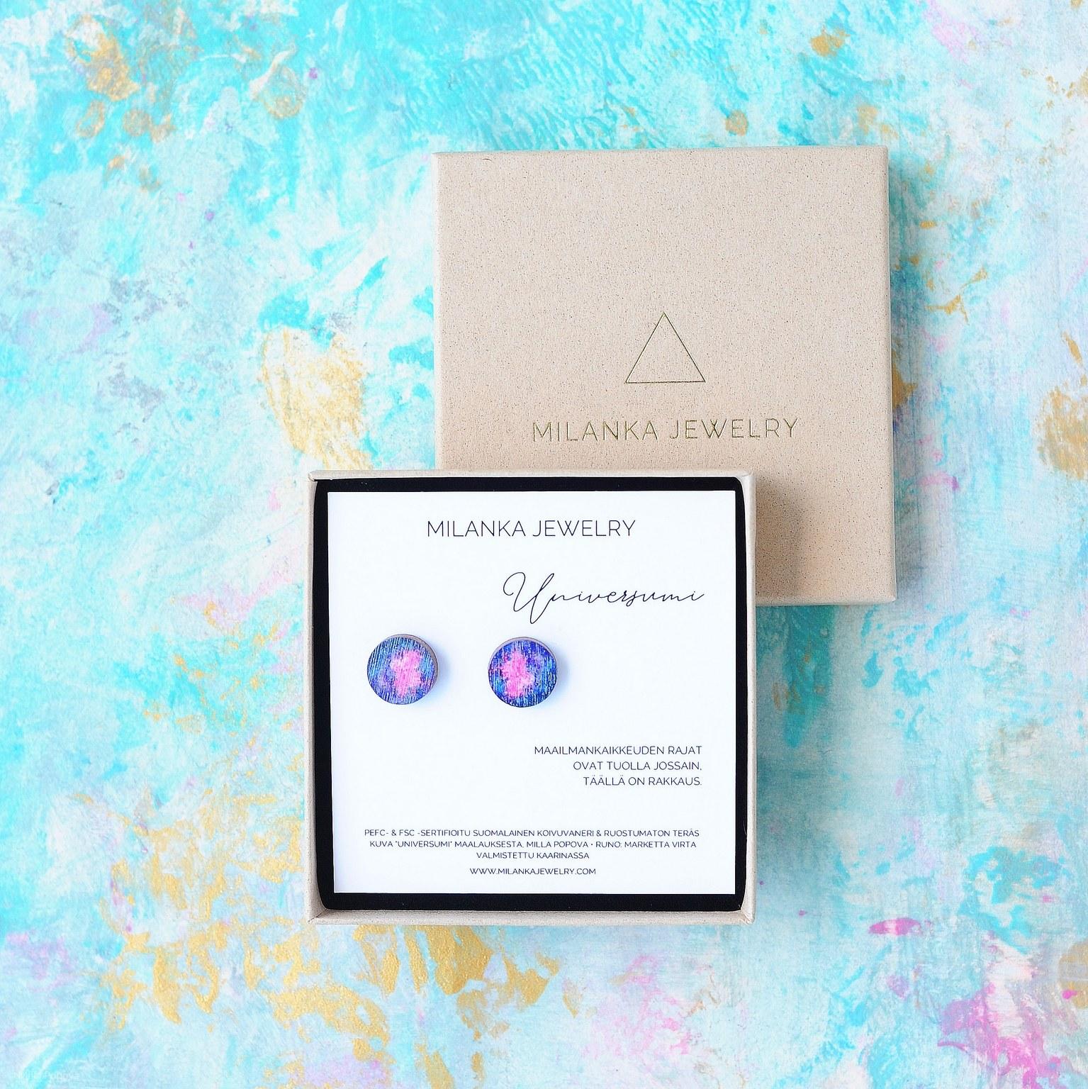 Milanka Jewelry: Universumi-tappikorvikset