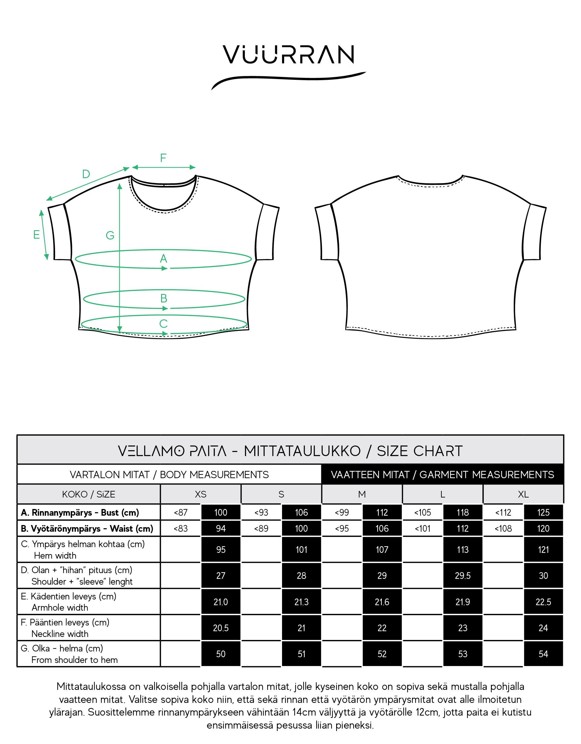 Vuurran: musta Vellamo-paita