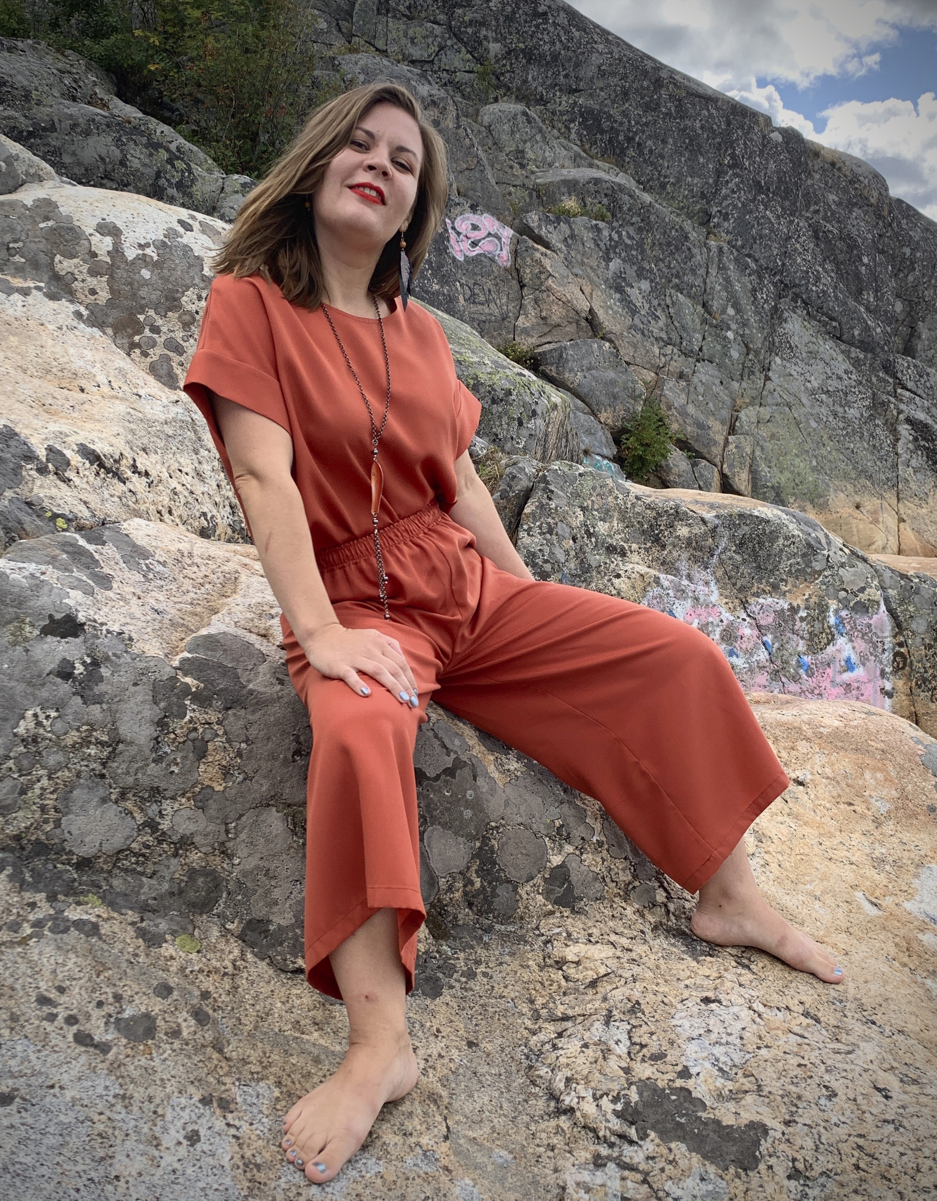Vuurran: Ilmatar-culottes, tiilenpunainen