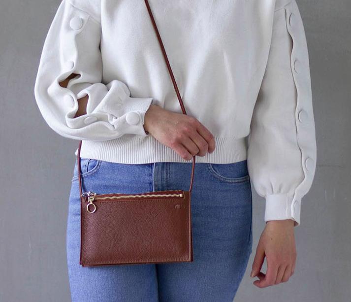 Miiko Design: Piilo-laukku, ruskea