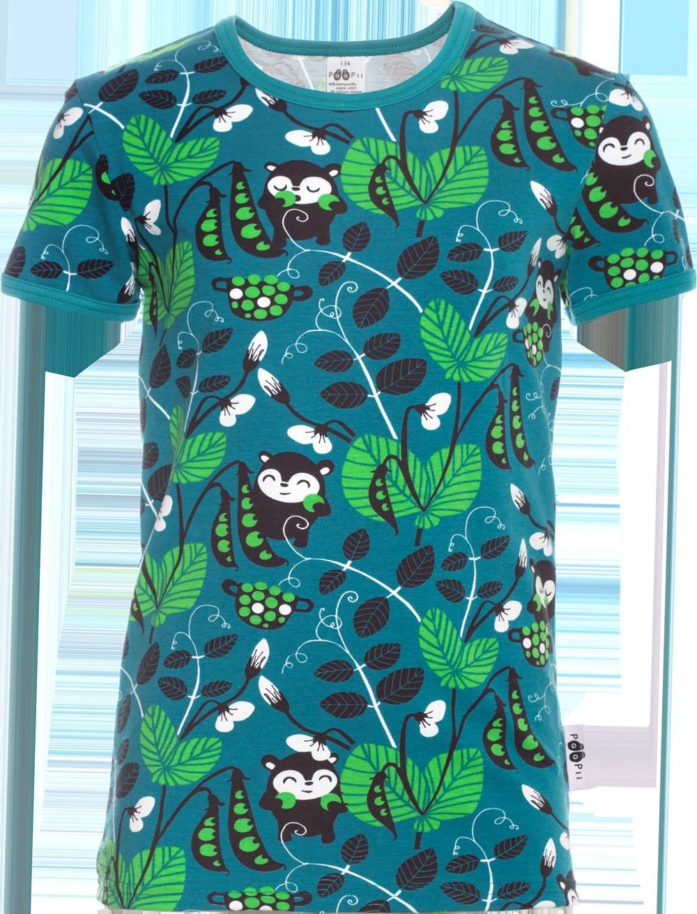 PaaPii Design: Kaiku-t-paita 128-164 cm Herne-kuosilla