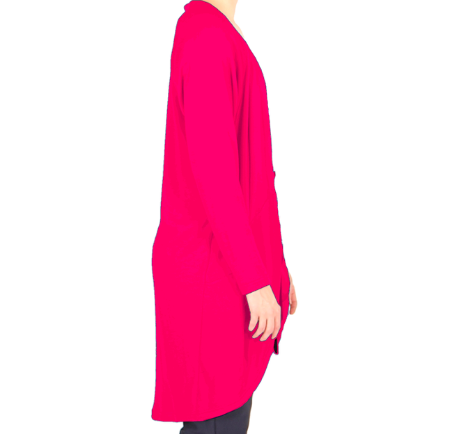 Vietto: merinovillainen taskuneuletakki, pinkki