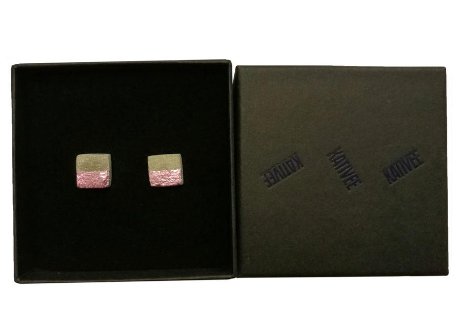 KATIVEE: Block-korvakorut, eri metallivärejä