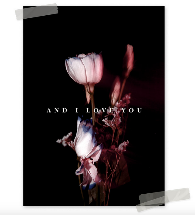 Ainoa Graphic Design: And I love you -juliste