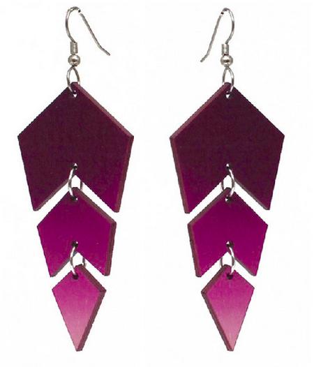 Jatuli: Ombre-korvakorut, violetti