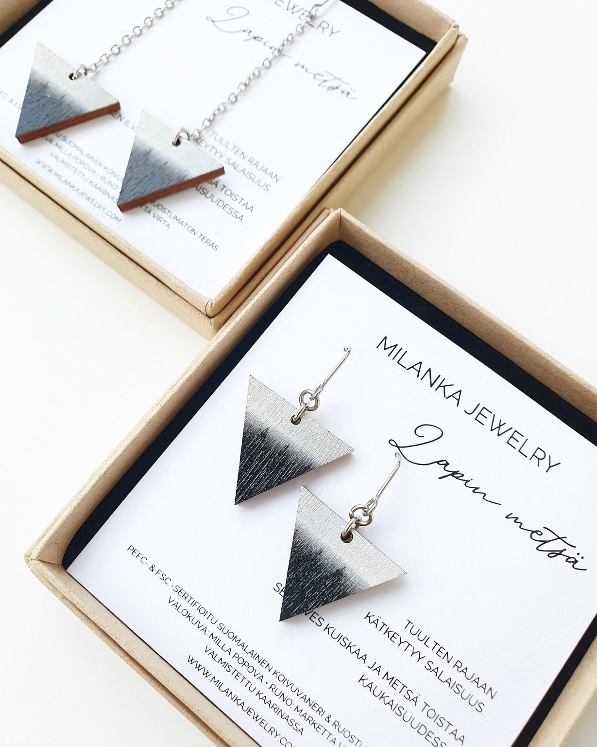 Milanka Jewelry: Lapin metsä -korvikset, lyhyt malli