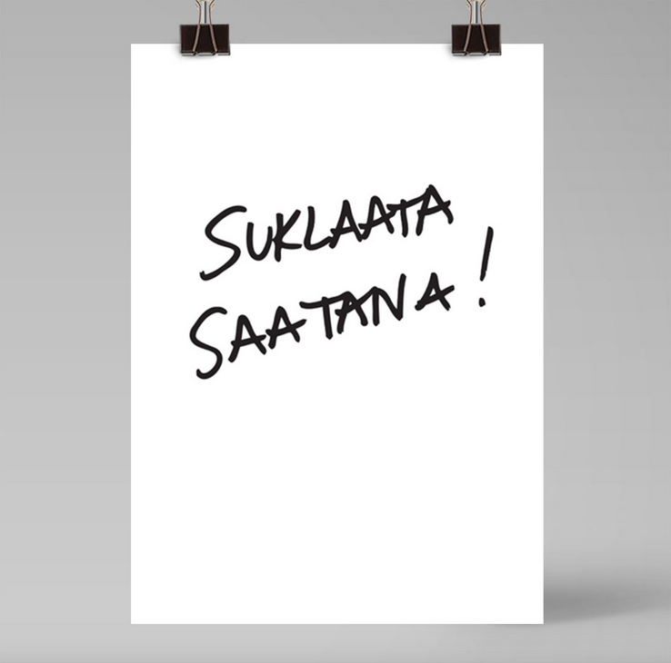 Ainoa Graphic Design: Suklaata saatana -juliste