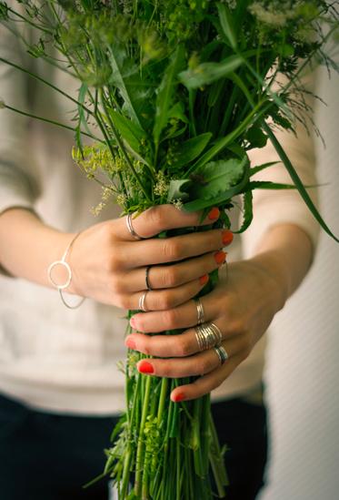 Elli Hukka: Ilma-sormussetti, 3 kpl, eri kokoja