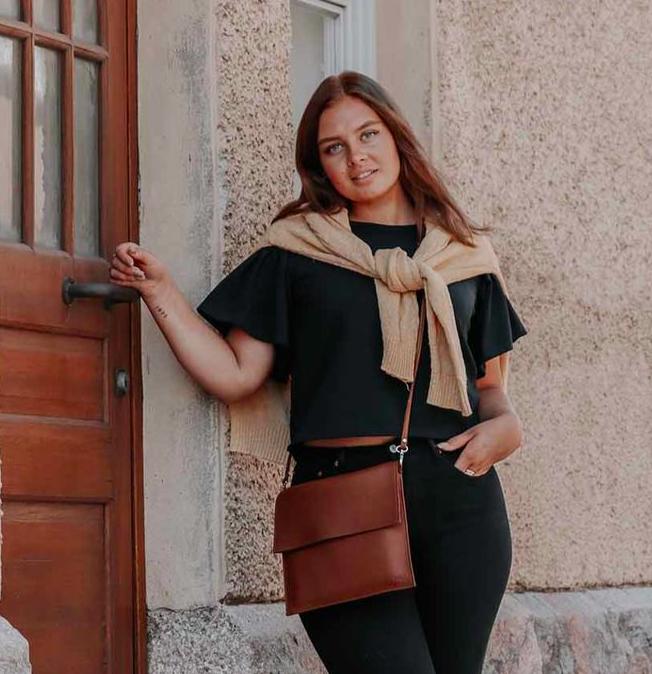 Miiko Design: Maxi Jemma -laukku, ruskea