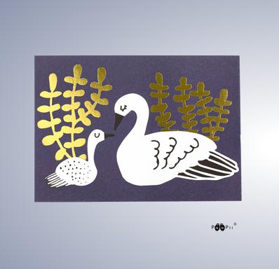 PaaPii Design: Joutsenet-postikortti