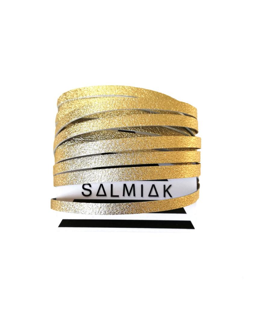 Salmiak Studio: kullanvärinen Nida-rannekoru poronnahasta