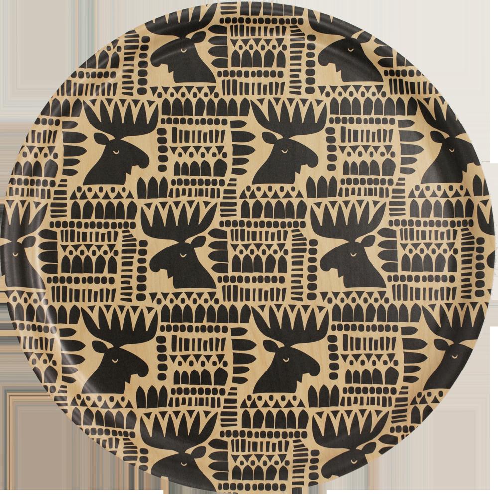 PaaPii Design: tarjotin 35 cm Hirvi-kuosilla