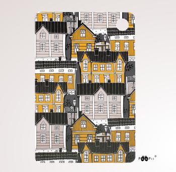 PaaPii Design: leikkuulauta 30 x 20 cm Vanhakaupunki-kuosilla