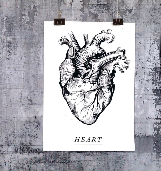 Ainoa Graphic Design: Heart-juliste