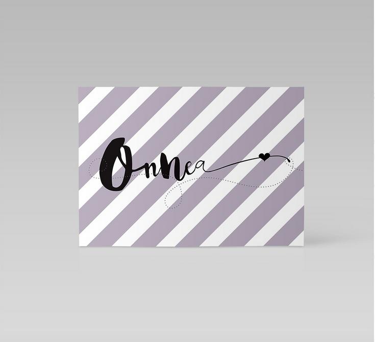 Ainoa Graphic Design: Onnittelukortti, laventeli