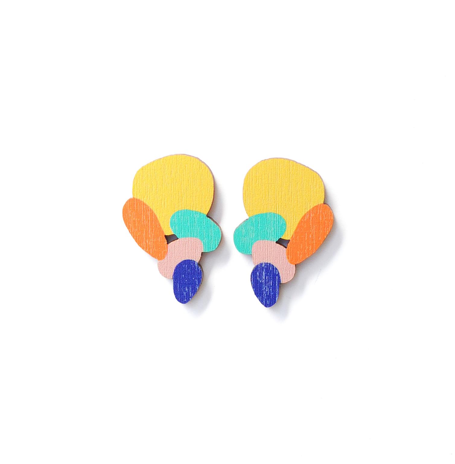 Milanka Jewelry: minikokoiset Rantakivet-korvikset, eri värejä