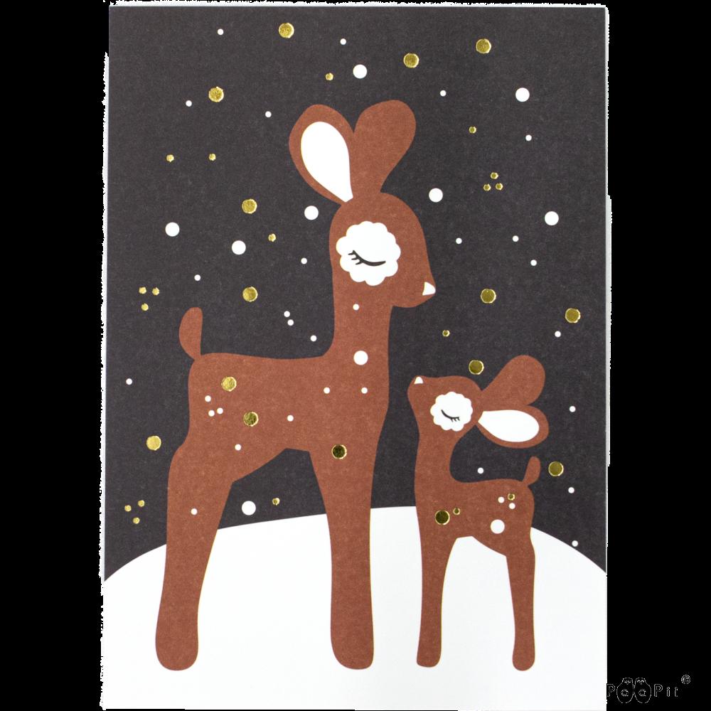 PaaPii Design: Bambit lumella -postikortti