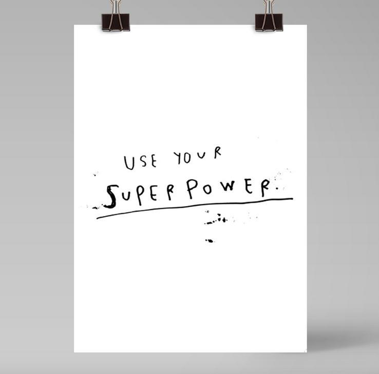 Ainoa Graphic Design: Superpower-juliste
