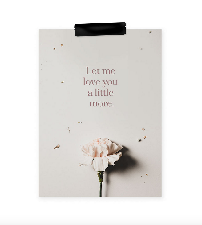 Ainoa Graphic Design: Let me love you -postikortti