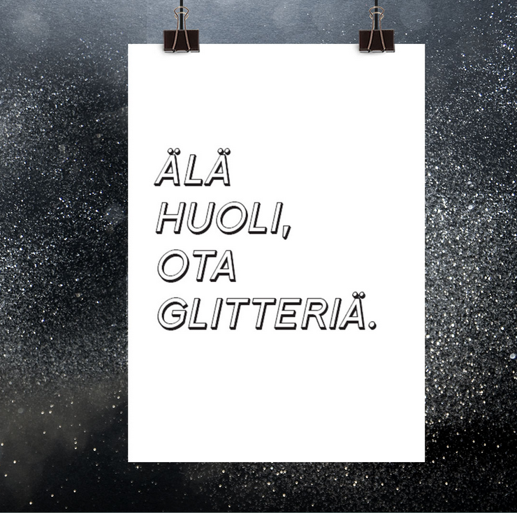 Ainoa Graphic Design: Glitter-juliste