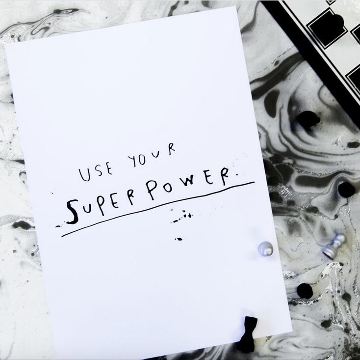 Ainoa Graphic Design: Superpower-juliste
