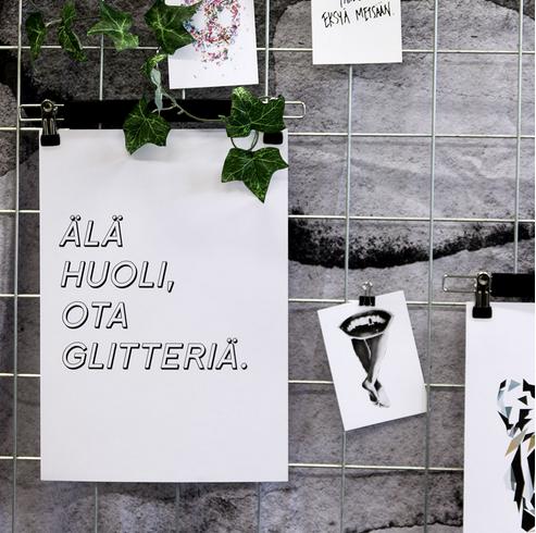 Ainoa Graphic Design: Glitter-juliste