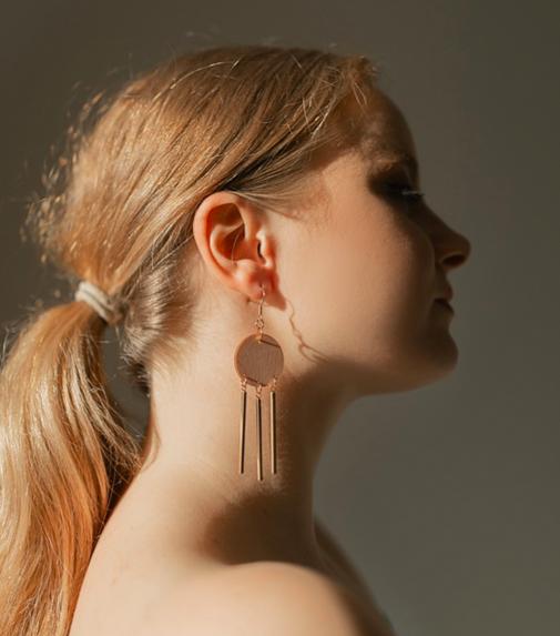 ButoniDesign: Sinfonia-korvakorut, vaaleanpunainen-kulta