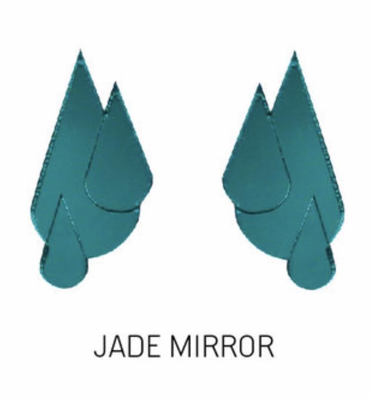 Jatuli: Let it Rain -korvakorut, jade peili