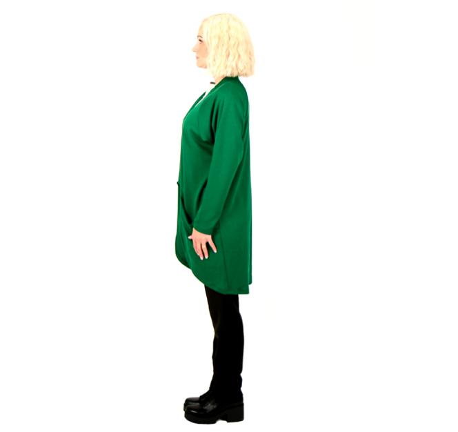 Vietto: merinovillainen taskuneuletakki, vihreä