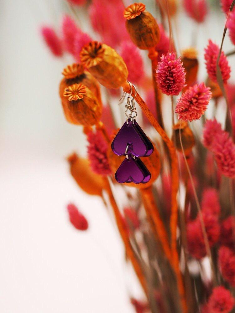 Jatuli: Cherie-korvakorut, violetti