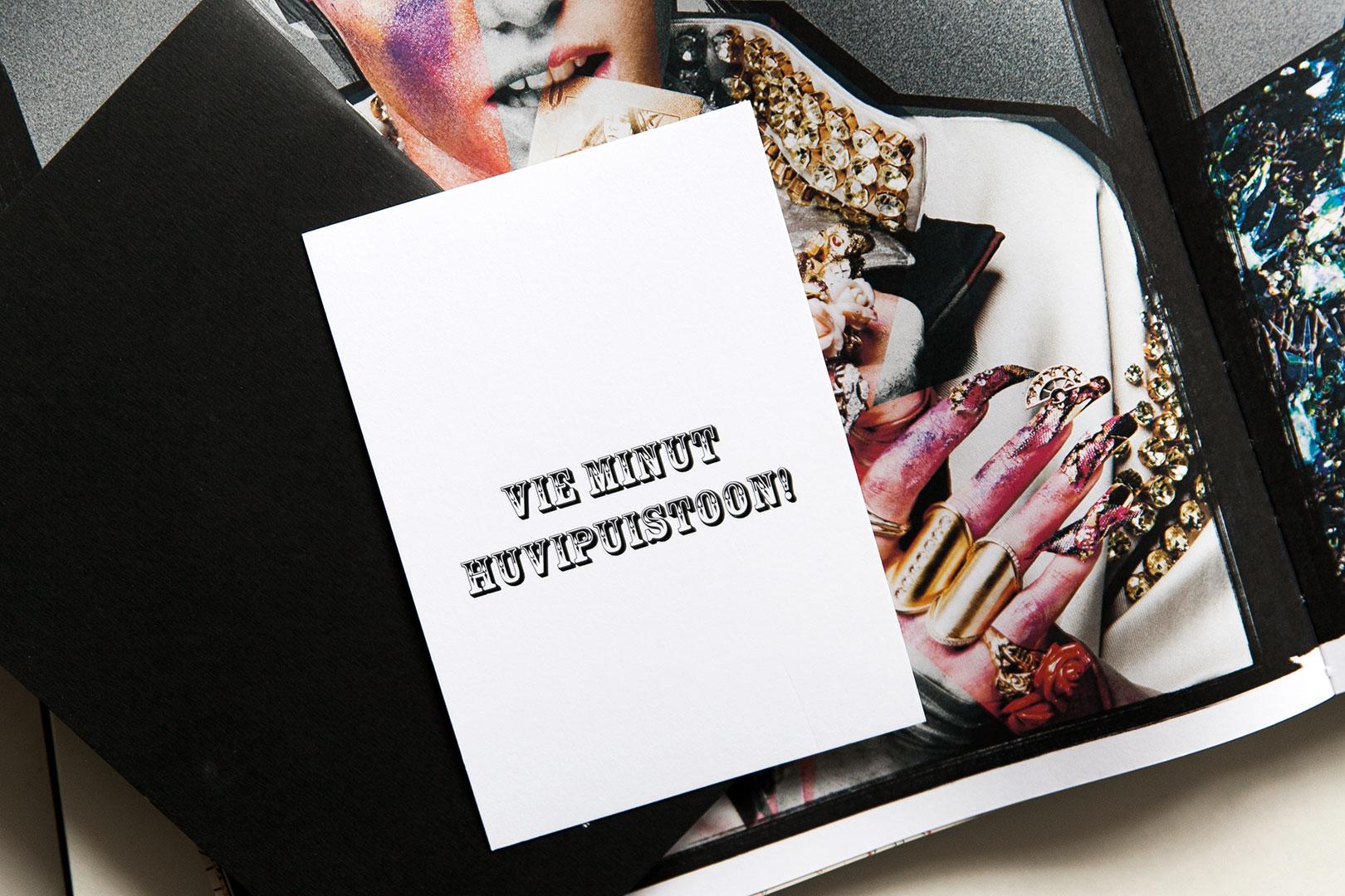 Ainoa Graphic Design: Huvipuisto-kortti