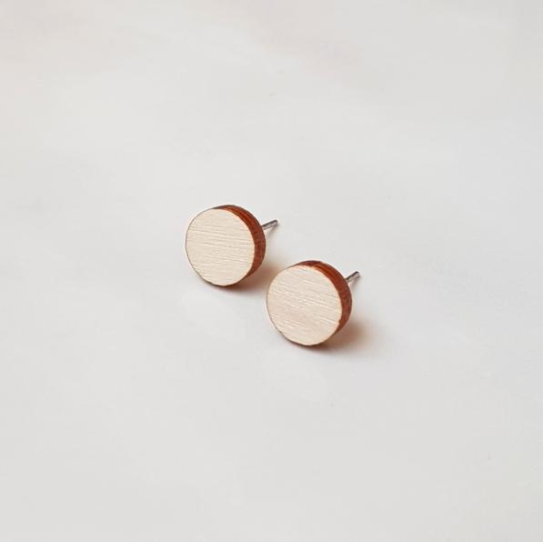 ButoniDesign: Konfetti-korvakorut, vaalea puu