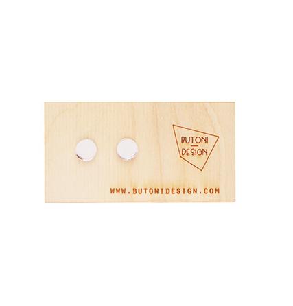 ButoniDesign: Konfetti-korvakorut, hopea peili