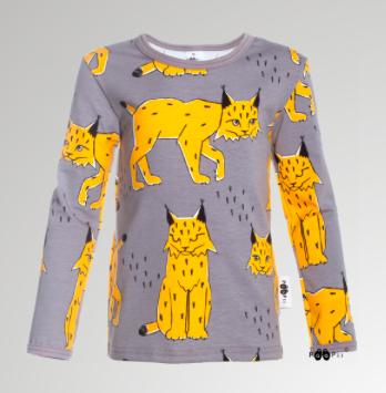 PaaPii Design: Uljas-paita 86-122 cm Ilves-kuosilla