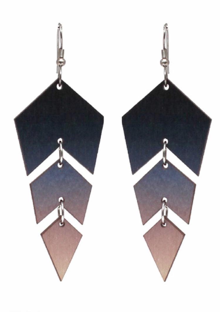 Jatuli: Ombre-korvakorut, sini-vaaleanpunainen