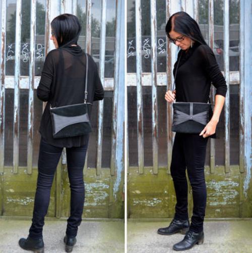 Salmiak Studio: Leather Detail -olkalaukku