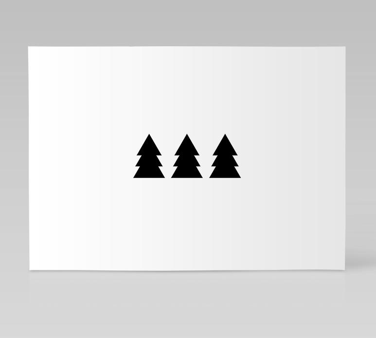 Ainoa Graphic Design: Kuusi kuusi kuusi -kortti
