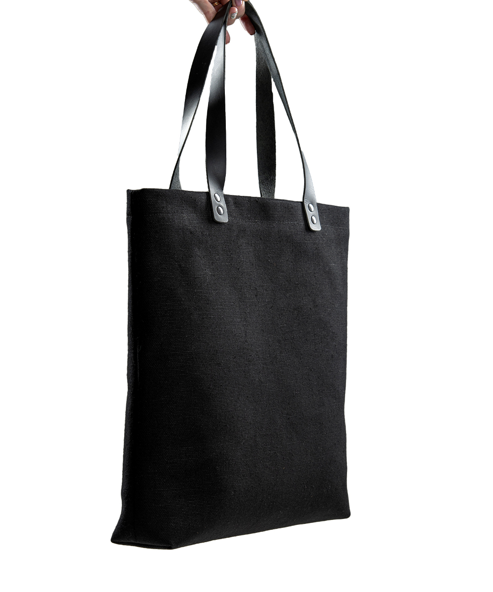 Salmiak Studio: kokomusta Yes Box Tote Bag -kauppakassi