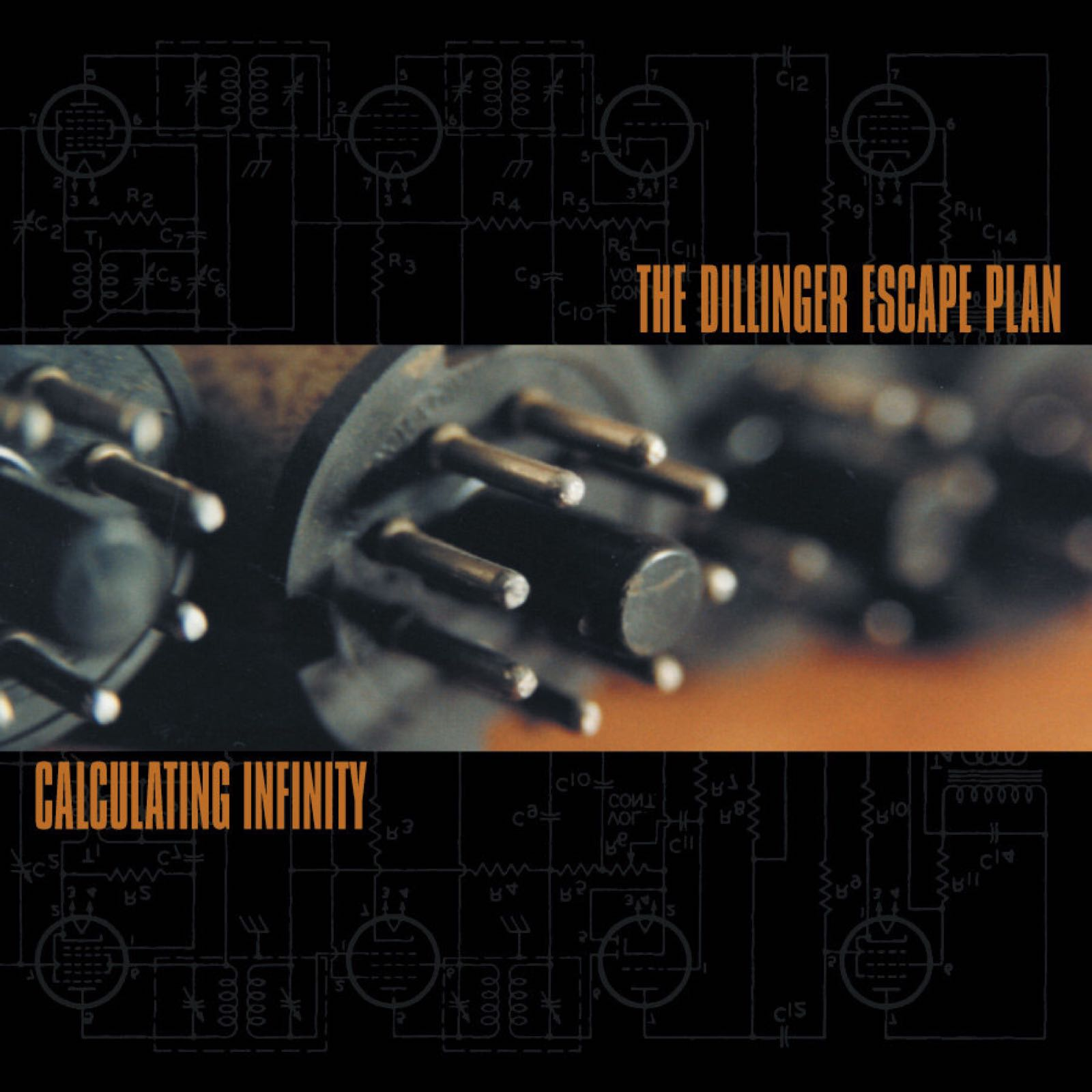 The Dillinger Escape Plan - Calculating Infinity [LP] (Neon Orange with Silver, Mustard and Grey Splatter)
