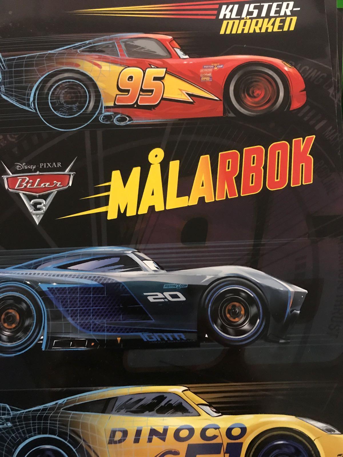 Målarbok Cars/Bilar 3
