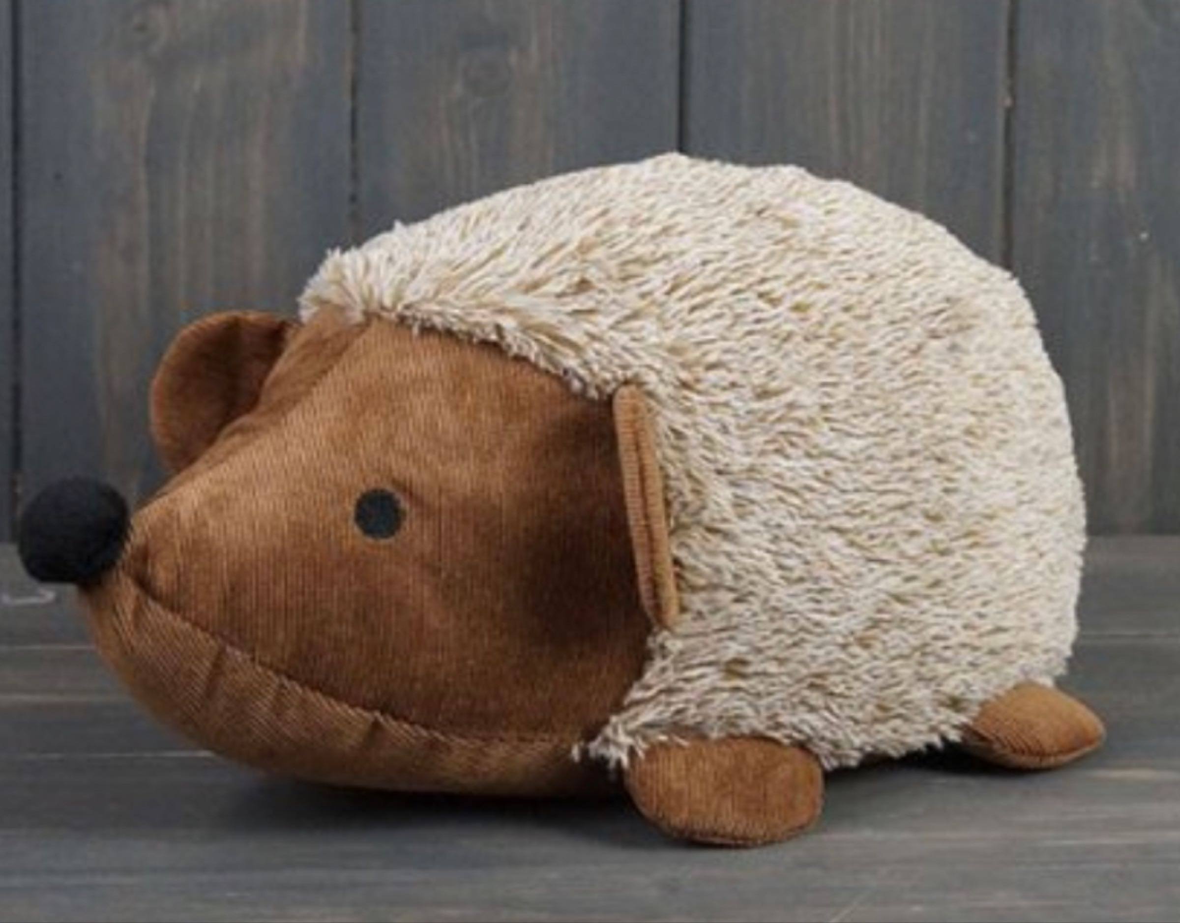 Faux Fur hedgehog doorstop  32cm